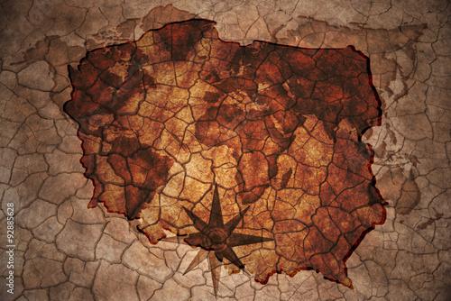 vintage poland map Fototapeta