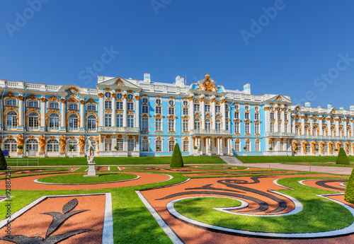 Fotografie, Obraz  The Catherine Palace at the Catherine Park (Pushkin) in summer day