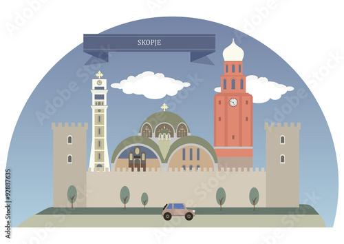 Poster Castle Skopje