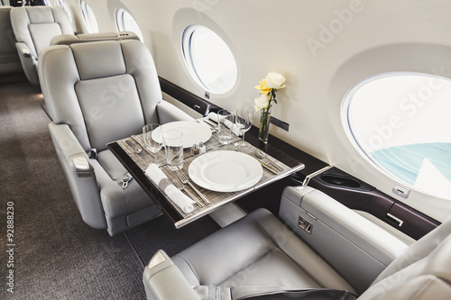 Fotografia  Luxury interior aircraft business aviation