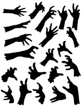 Collection Of Zombie Hands In ...