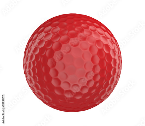 Fotografía Red golf ball 3D render isolated on a white background