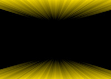 Vector : Perspective Yellow Line On Black Background