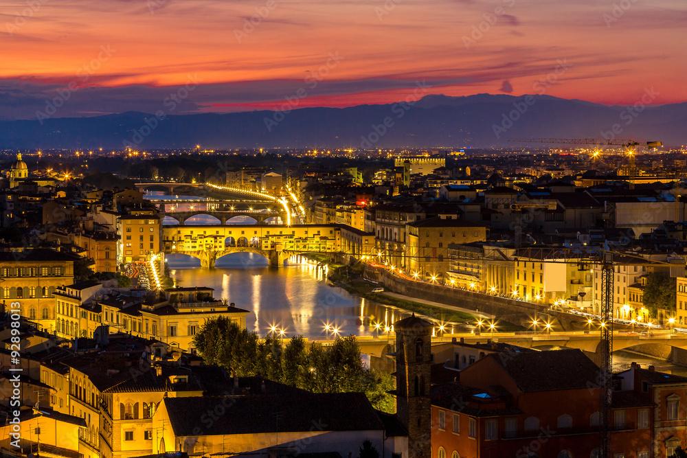 Fototapeta The Ponte Vecchio in Florence - obraz na płótnie