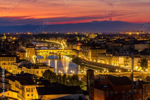 Fototapeta The Ponte Vecchio in Florence obraz na płótnie