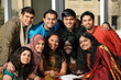 canvas print picture - Group of Ethnic College Students