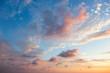 Leinwandbild Motiv Gentle Sky Background at Sunset time, natural colors, may use