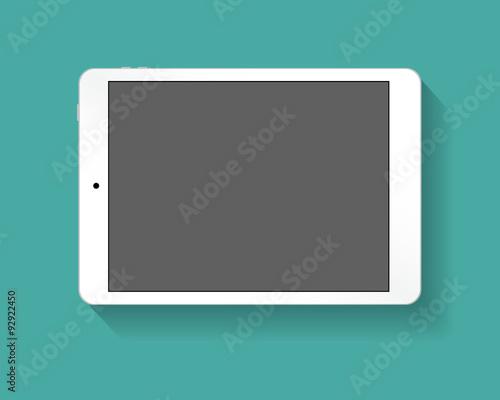 Fotografia  White tablet pc horizont