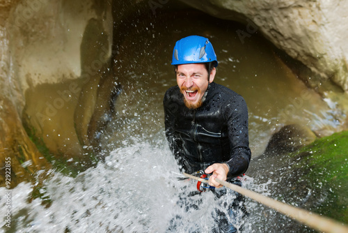 Fotografia  Getting wet while canyoning