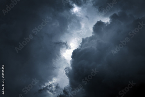 Aluminium Prints Heaven Storm Cloud Background