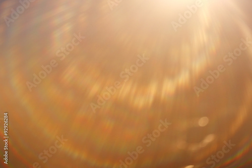 soft warm light rays, sun glare background Canvas Print