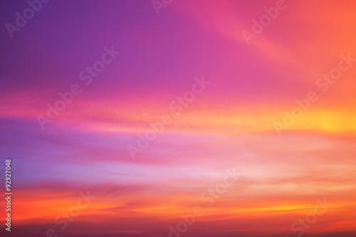 Foto auf Gartenposter Koralle The evening sky