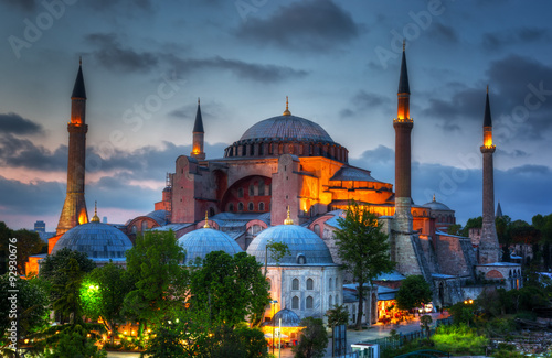 Hagia Sophia on a sunset, Istanbul Canvas Print