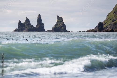 Foto op Aluminium Oceanië Reynisfjara rocks at south coast of Iceland