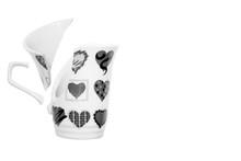 Black And White Broken Ceramic Cup