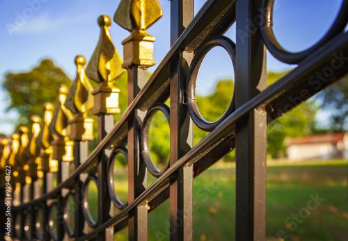 Fotografia Decorative cast iron fence