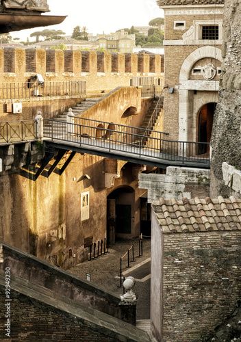 Inside the Castel Sant`Angelo in Rome - 92949230