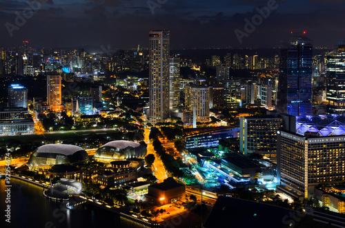 Obraz na plátne  Singapore downtown