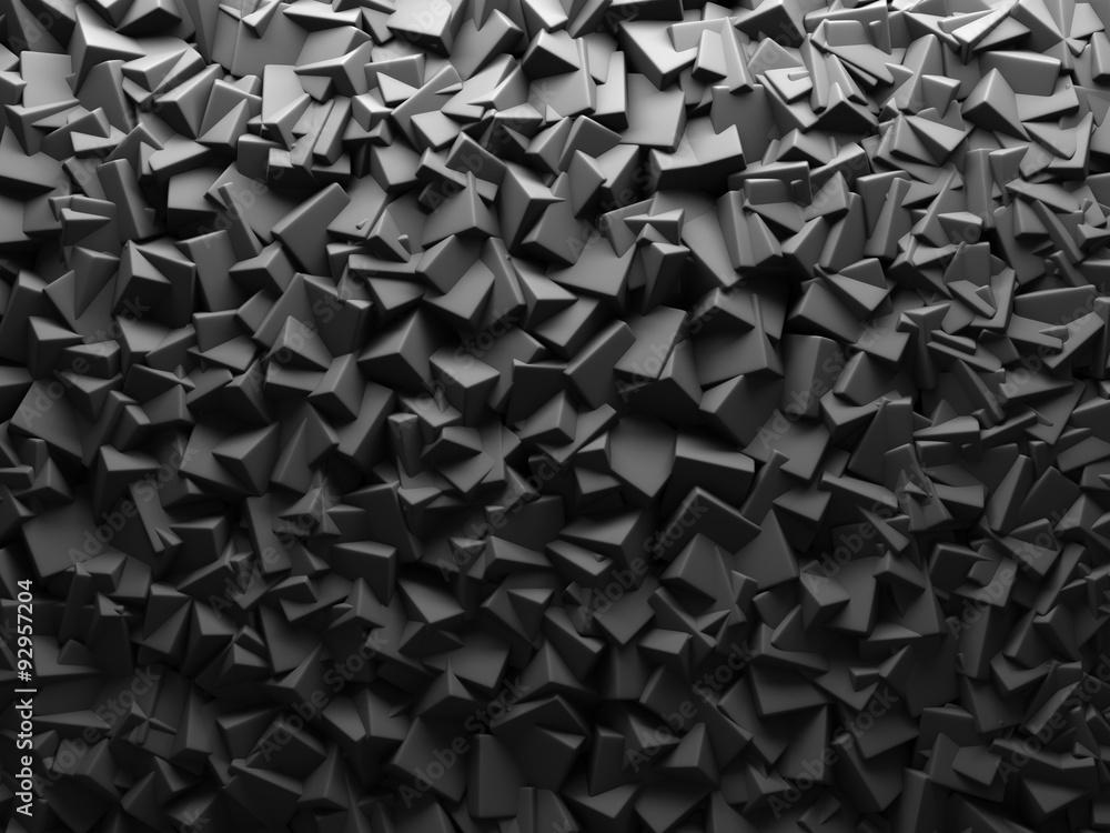 Fototapety, obrazy: Abstrakcyjny chaotyczny sześcian, fototapeta