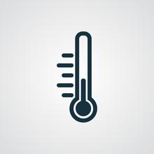 Flat Temperature Icon