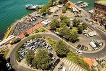 Aerial View Of Sorrento Port Terminal, Campania, Italy