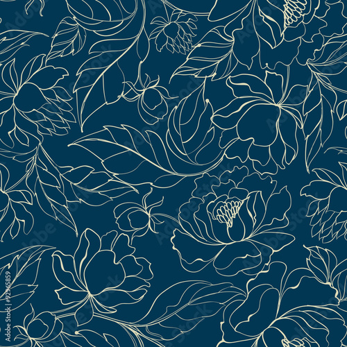 Photographie  Seamless floral pattern.