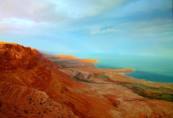 FototapetaSunset at Dead Sea