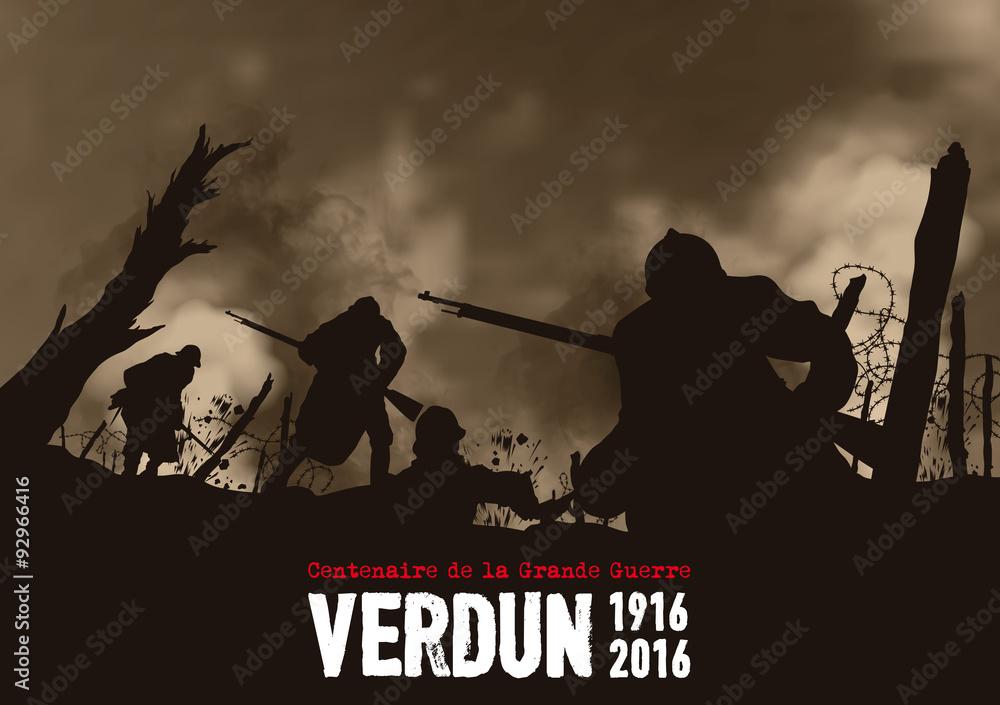 Fototapeta Bataille de Verdun - 1916