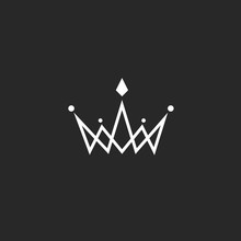 Crown Logo Monogram, Mockup Bl...