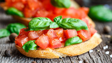 Tomato Bruschetta With Tomatoe...
