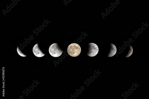 Photographie  Full Moon Lunar Eclipse Phases