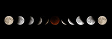 Full Moon Lunar Eclipse Phases