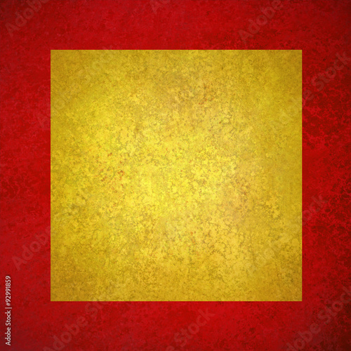 Elegant Red Gold Background Texture Paper Faint Rustic Yellow Square On Grunge Border Paint