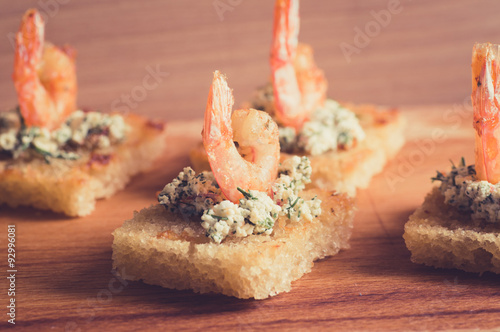 Tasty shrimp appetizer