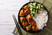 Asian Chicken With Rice, Onion...
