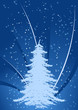 Leinwandbild Motiv Background with Christmas tree