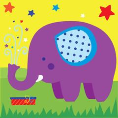 Cute elephant design vector illustration