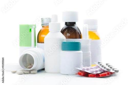Fotografia  Blank medicine bottles