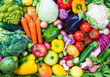 Fototapeta Fototapety do kuchni - Vegetables and fruits background.