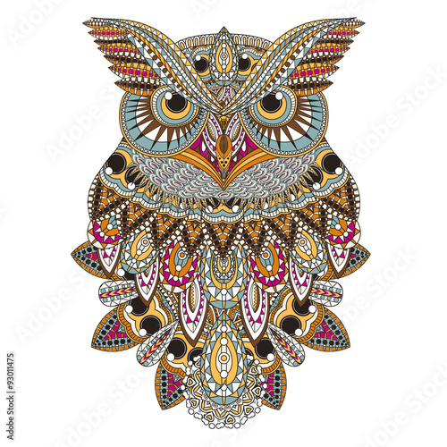 Canvas Prints Owls cartoon sumptuous owl