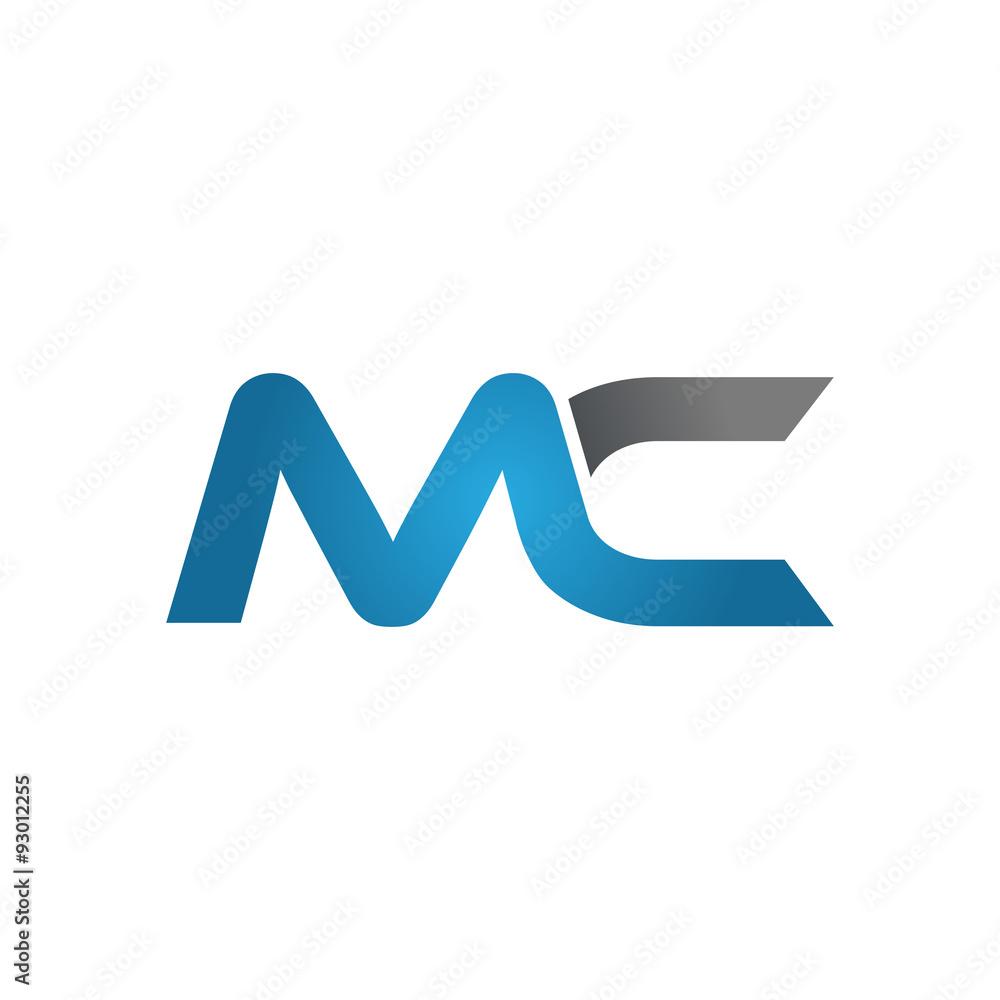 Fototapeta MC company linked letter logo blue