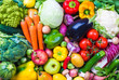 Leinwanddruck Bild - Vegetables and fruits background.