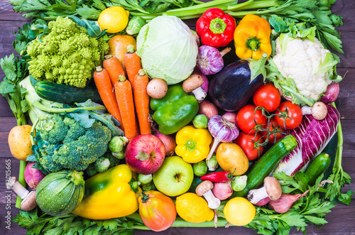 Tuinposter Groenten Vegetables and fruits.