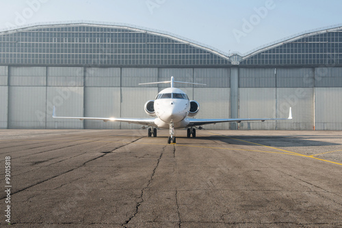 Tablou Canvas Business jet plane on the ground.