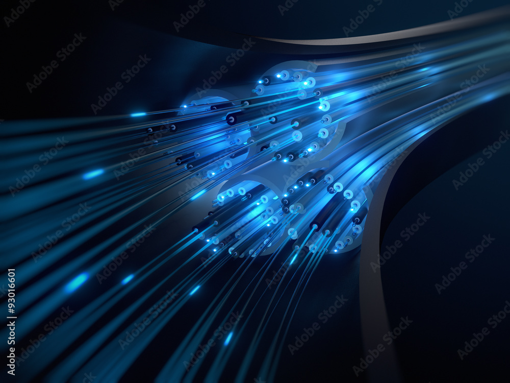 Fototapety, obrazy: Kabel Daten Glasfaser Querschnitt