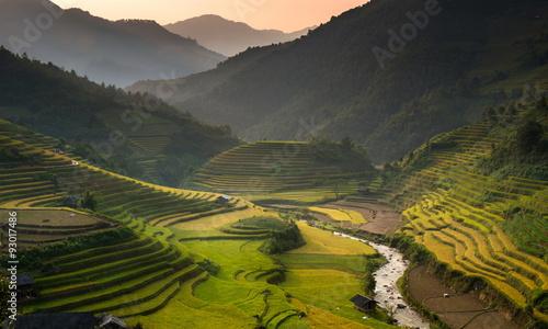 Foto op Aluminium Beijing Rice Terrace