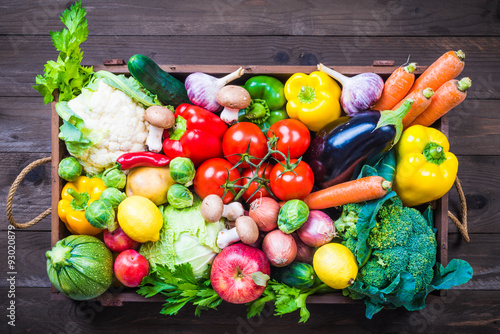 Tuinposter Groenten Vegetable and fruits.