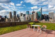 Rooftop Patio In New York City