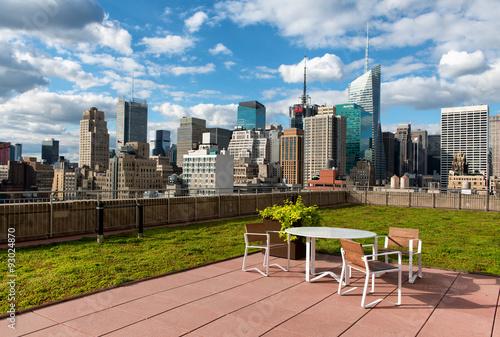 Fotografia Rooftop patio in New York City