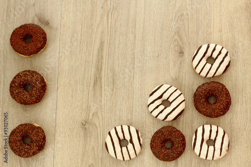 Fotografia, Obraz  Chocolate donuts